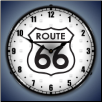 ROUTE 66  BACKLIT LIGHTED CLOCK