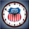 UNION PACIFIC RAILROAD BACKLIT LIGHTED CLOCK