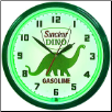 "DINO SINCLAIR  20"" GENUINE NEON CLOCK"