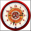 "GILMORE  20"" GENUINE NEON CLOCK"