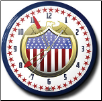 "US EAGLE SHIELD  20"" GENUINE NEON CLOCK"