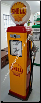 SHEL  GAS PUMP - FULL SIZE REPRODUCTION OF OLD 1950s CLASSIC ANTIQUE COLLECTIBLE GAS STATION MEMORABILIA